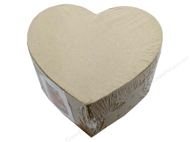 Darice Paper Mache Box Heart 4 in. /5 in. /6 in. Set Of 3