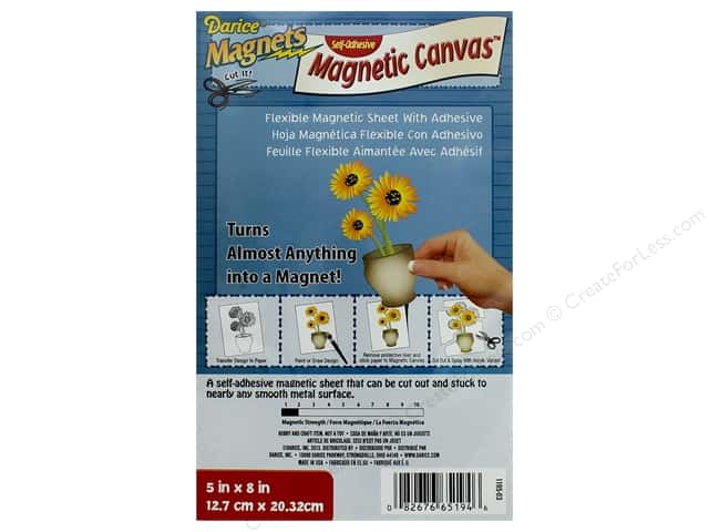 Darice Magnet Adhesive Canvas 5 in. x 8 in. Flexible White