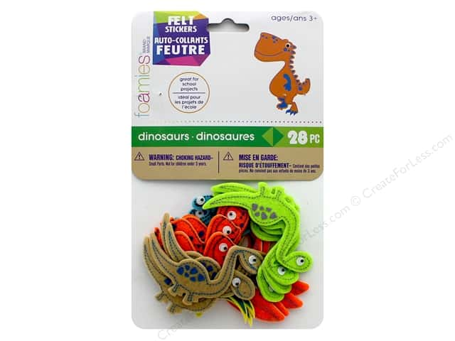 Darice Felties Sticker Dinosaurs 28 pc