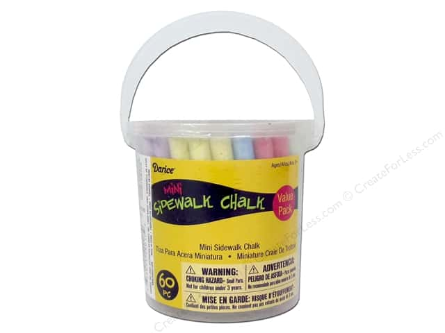 Darice Kids Sidewalk Chalk Mini 60 pc