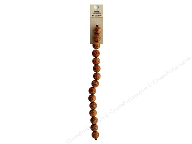 Darice Wood Bead Strand 8 in. Round Speckled