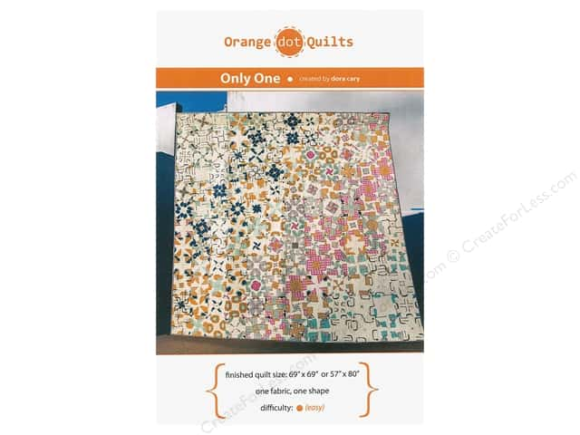 Orange Dot Quilts Only One Pattern