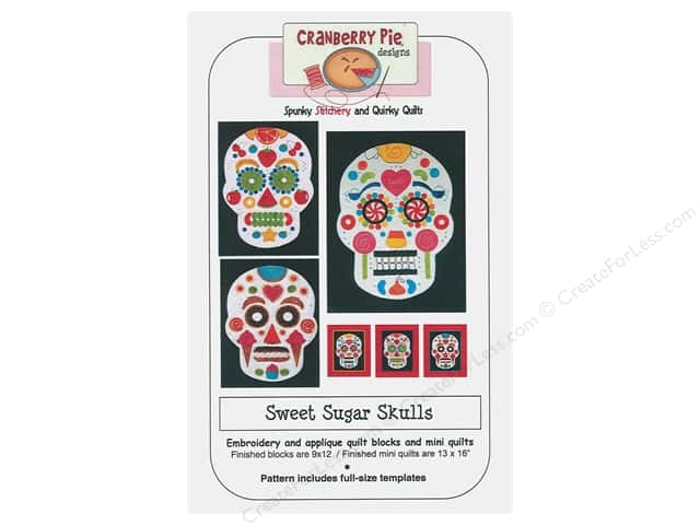 Cranberry Pie Designs Sweet Sugar Skulls Pattern