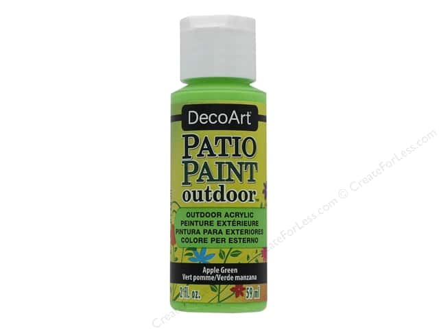 DecoArt Patio Paint Outdoor Acrylic Paint 2 oz. #75 Apple Green