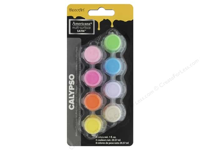 DecoArt Americana Multi-Surface Paint Pot 8-Color Calypso