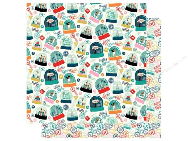 """Carta Bella Pack Your Bags Paper 12""""x 12"""" Happy Place (25 pieces)"""