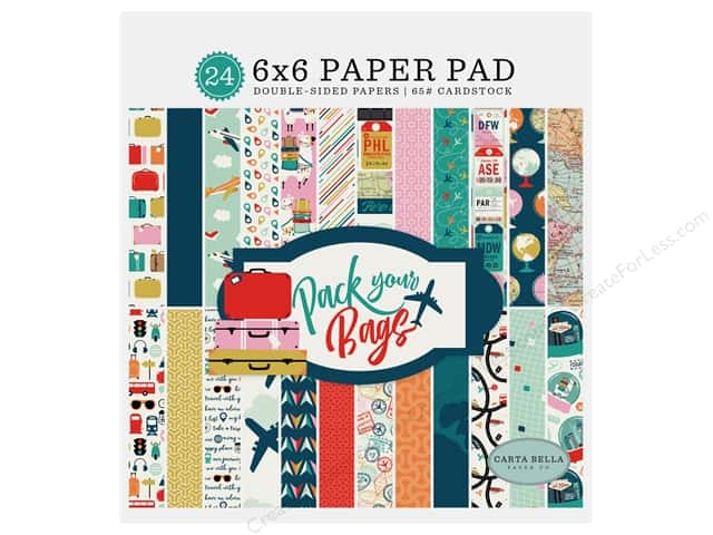 Carta Bella Pack Your Bags Paper Pad 6 in. x 6 in.
