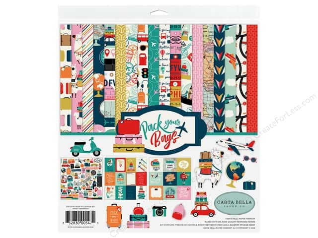 "Carta Bella Pack Your Bags Kit 12""x 12"""