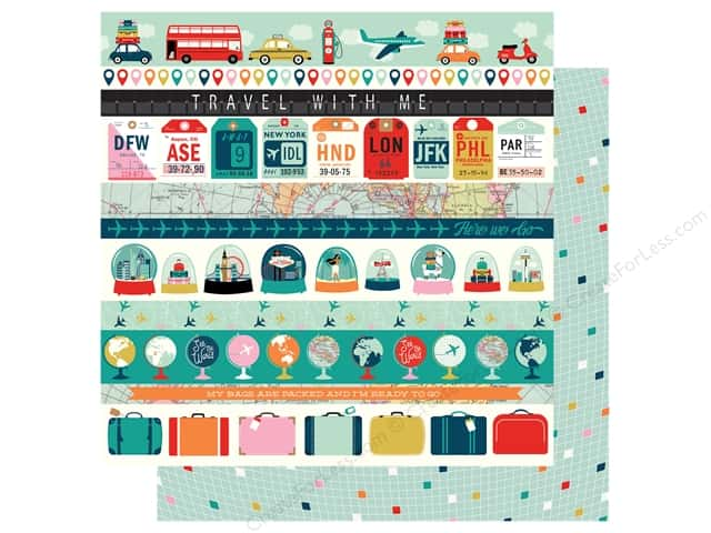 "Carta Bella Pack Your Bags Paper 12""x 12"" Border Strips (25 pieces)"