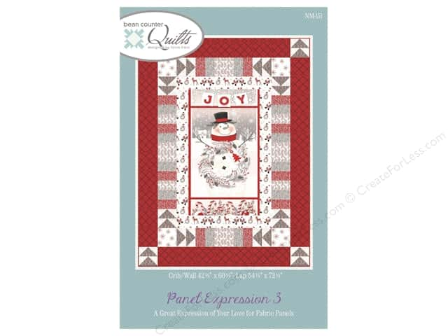 Bean Counter Quilts Panel Expression 3 Pattern