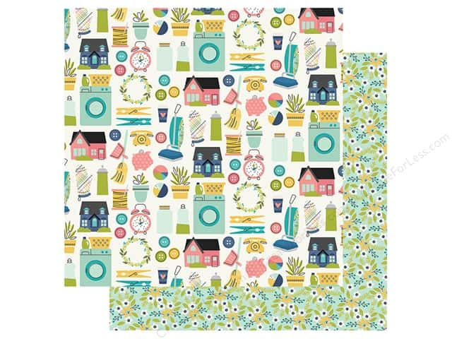"Simple Stories Collection Domestic Bliss Paper 12""x 12"" Loads Of Fun (25 pieces)"