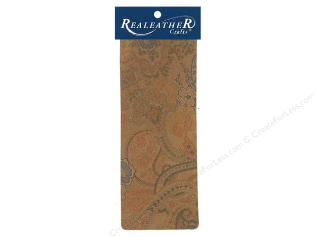REALEATHER by Silver Creek Leather Trim Printed 9 in. x 3.5 in. Paisley