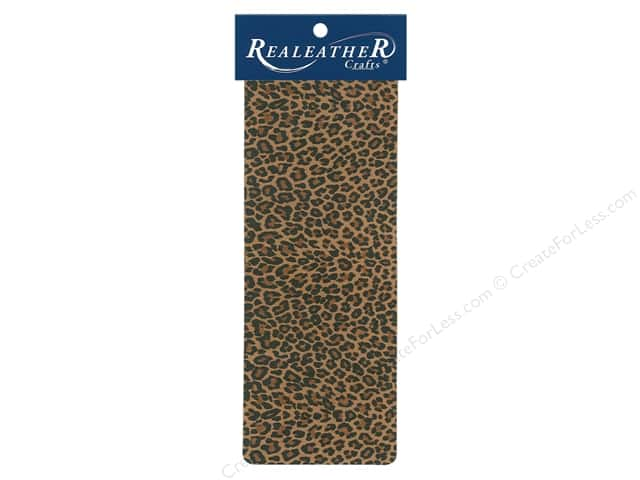 REALEATHER by Silver Creek Leather Trim Printed 9 in. x 3.5 in. Mini Leopard