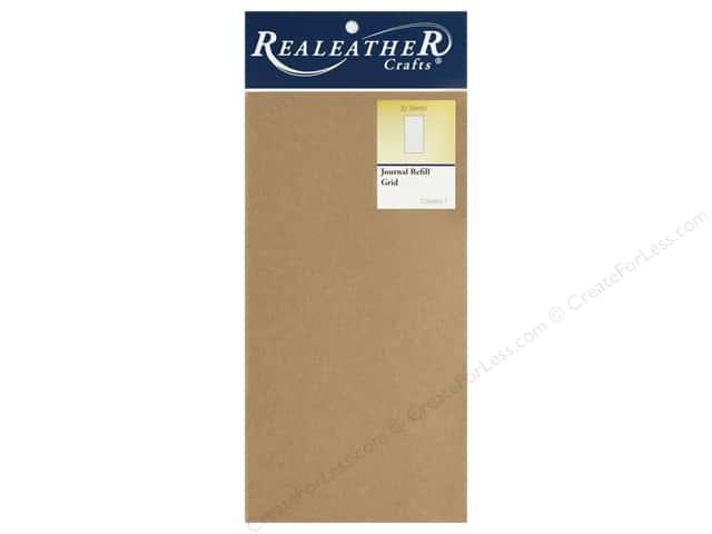 REALEATHER Travel Journal Refill Grid