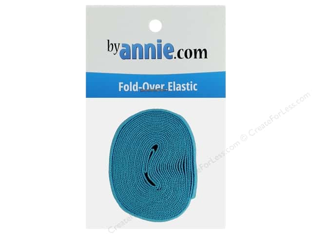 By Annie Fold Over Elastic 20mmx 2yd Parrot Blue