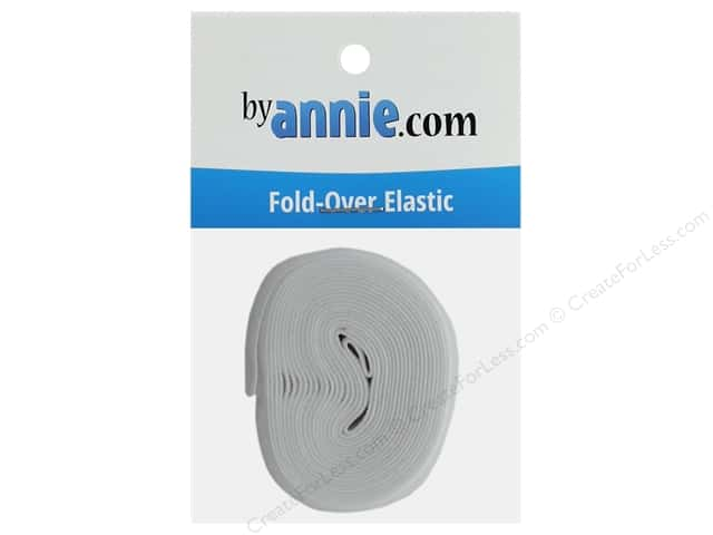 By Annie Fold Over Elastic 20mmx 2yd White