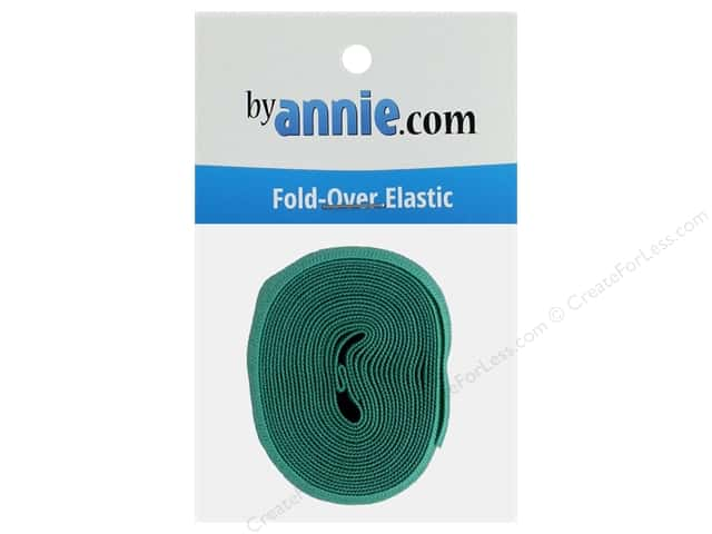 By Annie Fold Over Elastic 20mmx 2yd Turquoise