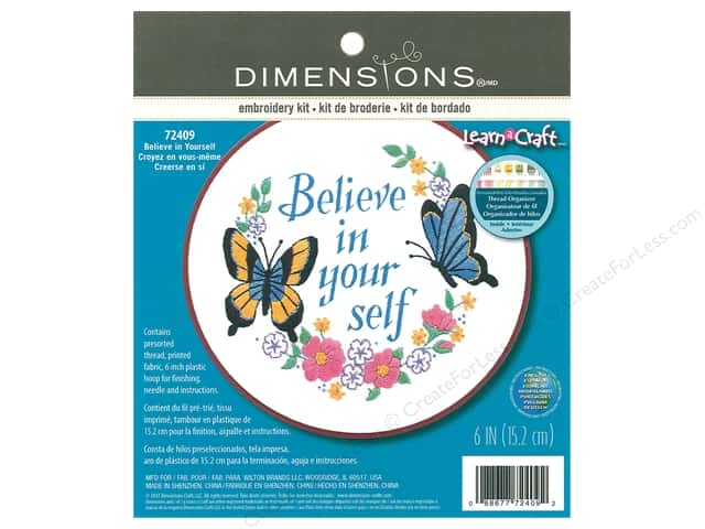 Dimensions Embroidery Kit Believe In Yourself