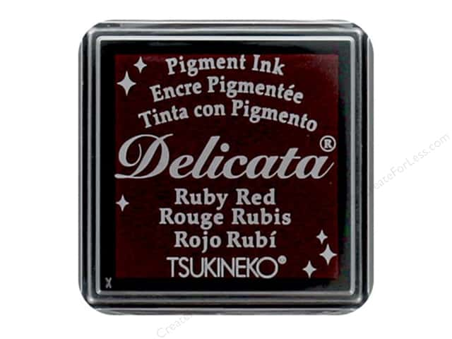 Tsukineko Delicata Pigment Ink Pad Small Ruby Red