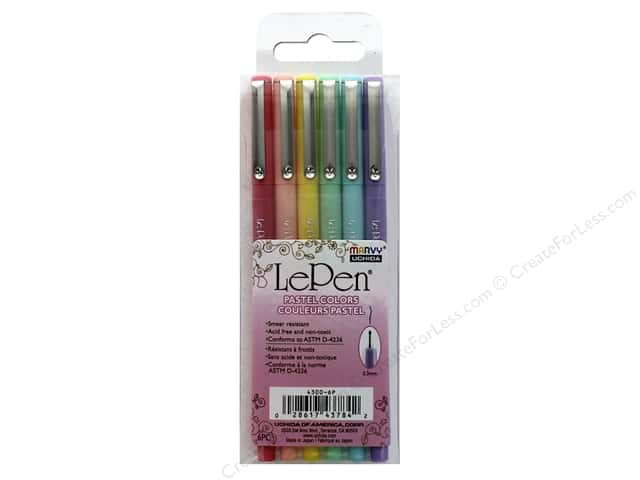Uchida Le Pen Set .3 mm Pastel 6 pc