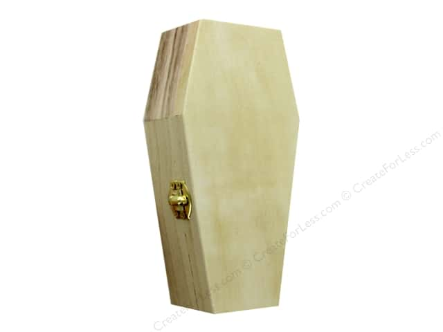 Darice Wood Coffin Unfinished Box 6 in.