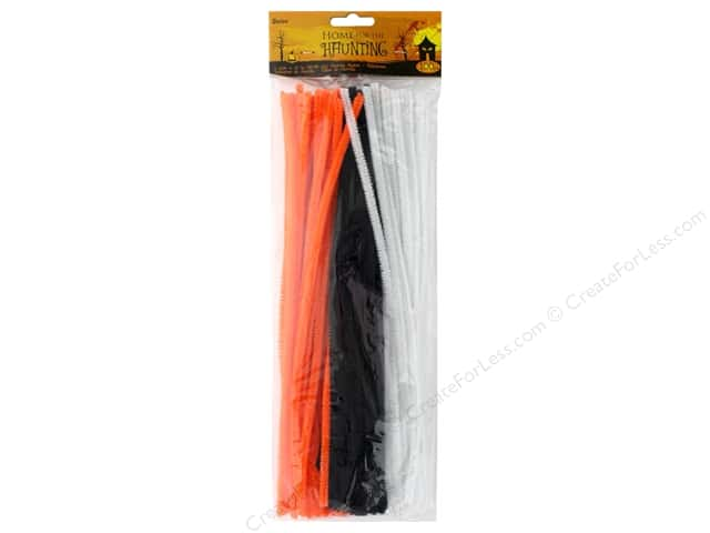 Darice Chenille Stems 6 mm x 12 in. Halloween 100 pc.