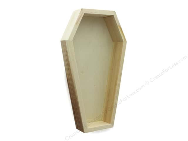 Darice Unfinished Wood Coffin Tray 7 1/2 in.