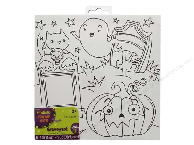 Darice Canvas Kit 8 x 8 in. Halloween Graveyard