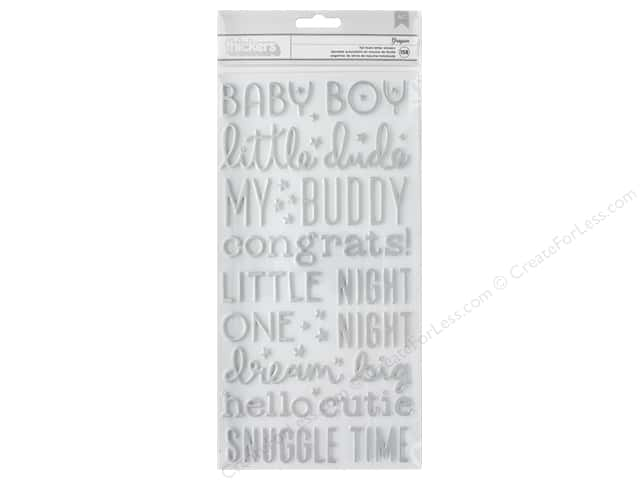 American Crafts Thickers Stickers Words Night Night Boy