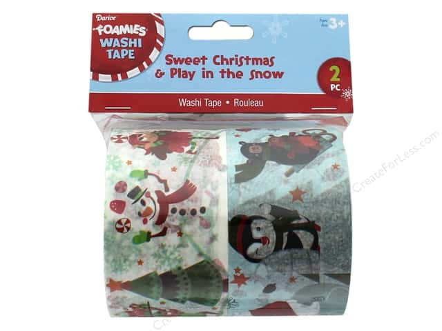 Darice Washi Tape Sweet Christmas/Play In The Snow
