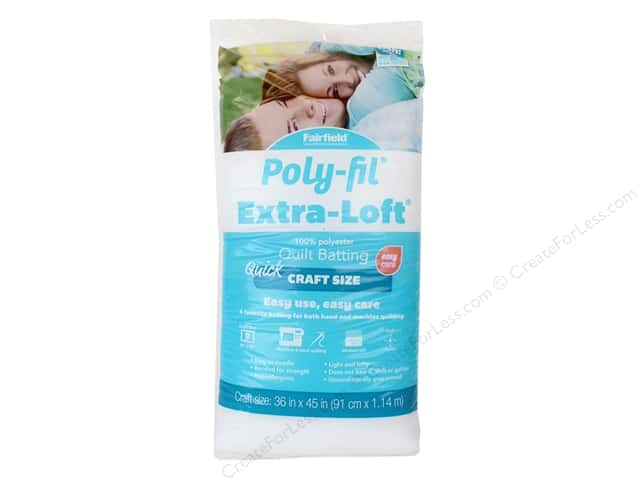 Fairfield Batting Poly Fil Extra Loft 36 in. x 45 in.