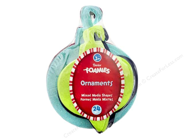 Darice Foamies Ornaments Mixed Media Stack 24 pc