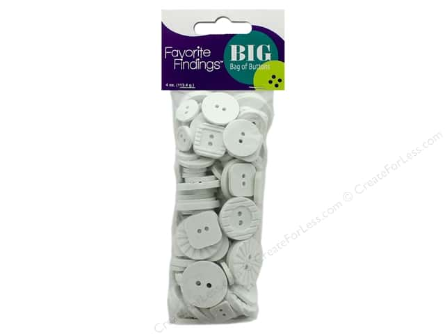 Blumenthal FF Big Bag Of Buttons 4 oz White