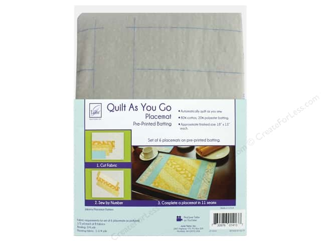 June Tailor Batting Quilt As You Go Cotton/Polyester Placemat Jakarta