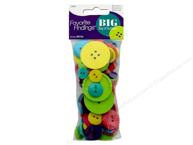 Blumenthal FF Big Bag Of Buttons 3.5 oz Carnival