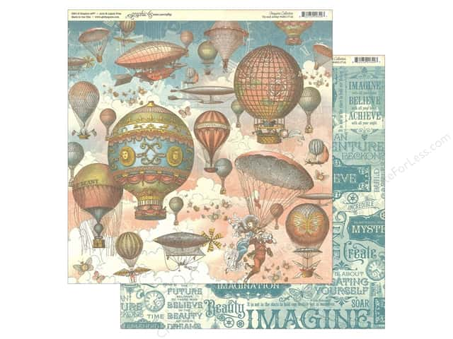 Graphic 45 Collection Imagine Paper 12 in. x 12 in. Up & Away