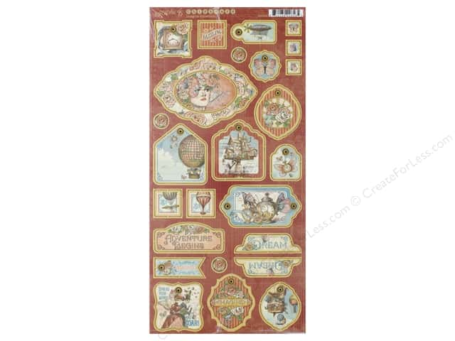 Graphic 45 Collection Imagine Chipboard