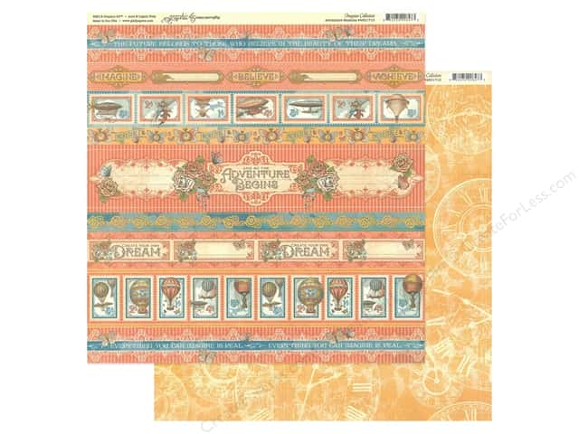 Graphic 45 Collection Imagine Paper 12 in. x 12 in. Adventure Beckons