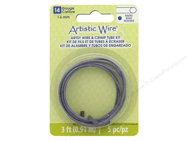 Artistic Wire Artsy Wire With Crimps 14 Gauge Mauve 3 ft