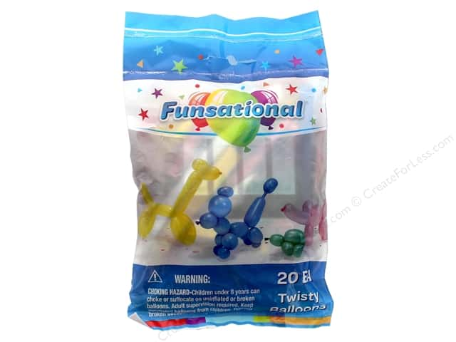 Pioneer Funsational Twisty Balloons 20 pc. Assorted