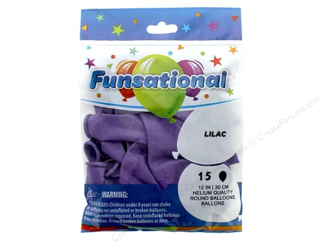 Pioneer Funsational Balloons 12 in. 15 pc. Lilac