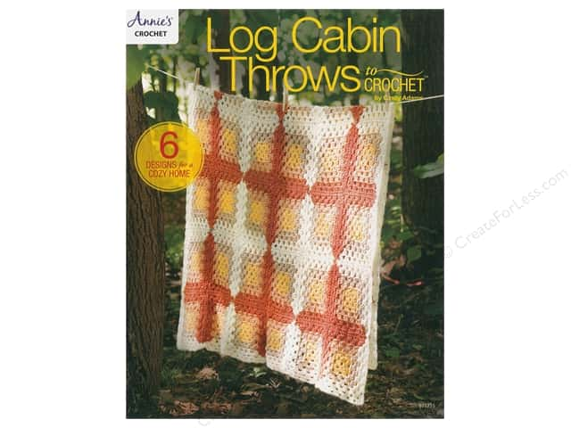 Annie's Log Cabin Throws To Crochet Book