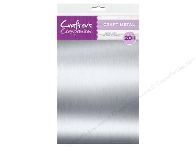 "Crafter's Companion Tools Craft Metal Sheet 5.5""x 8.5"" 20pc"