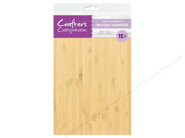 Crafter's Companion Tools Adhesive Wood Veneer 5.5 in. x 8.5 in. 15 pc