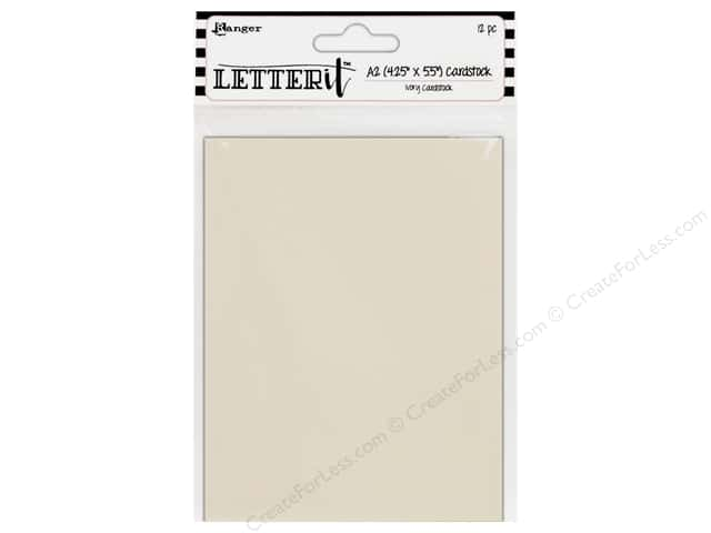 Ranger Letter It Cardstock 4 1/4 x 5 1/2 in. Ivory