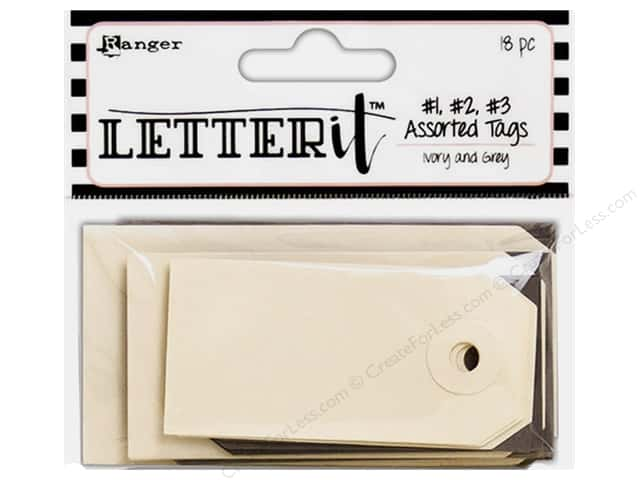 Ranger Letter It Assorted Tags