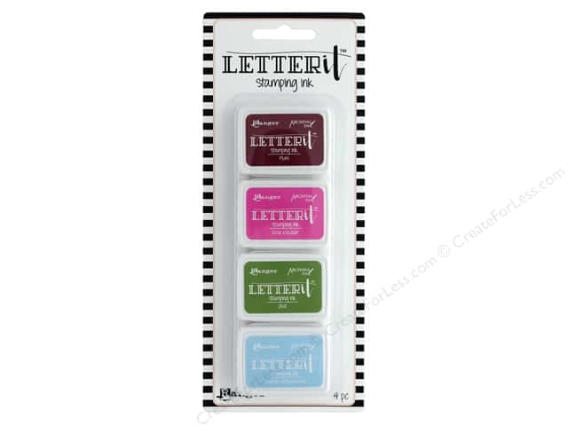 Ranger Letter It Stamping Ink Pads Set #2