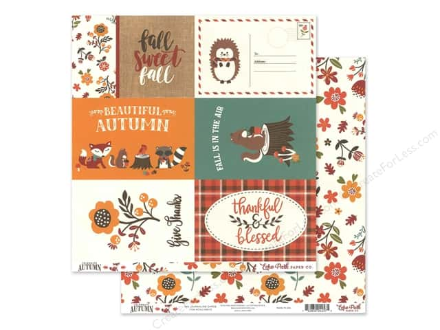 Echo Park Celebrate Autumn Paper  12 in. x 12 in. Journaling Cards 4 in. x 6 in.