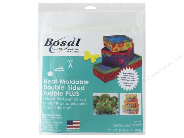 Bosal Double-Sided Fusible Plus Stabilizer Heat Moldable 20 x 36 in.