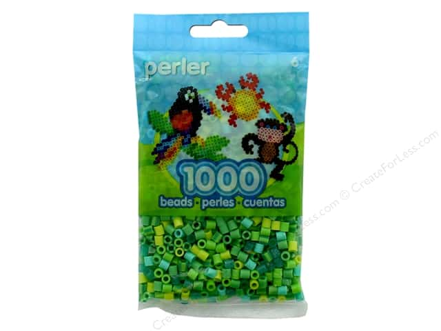 Perler Beads 1000 pc. Green Jewel Tone Mix